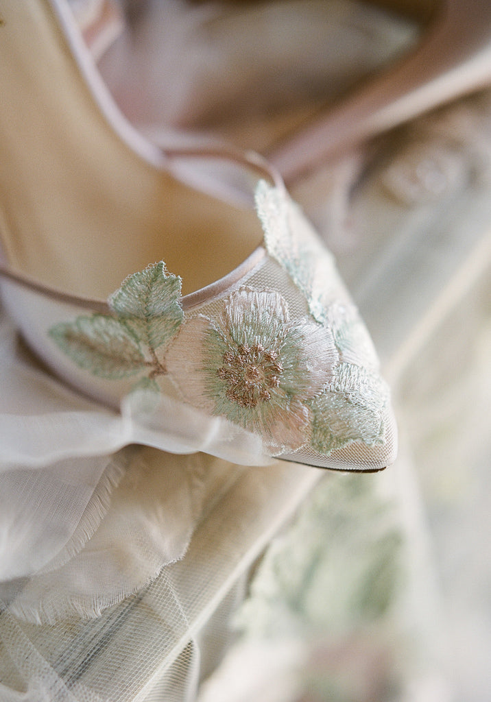 Flora Embroidered Wedding Shoe Claire Pettibone for Bella Belle