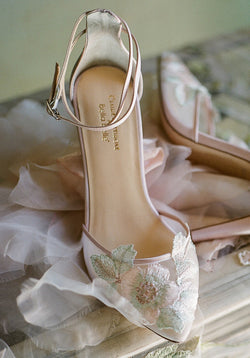 Embroidered Floral Wedding Shoes Claire Pettibone