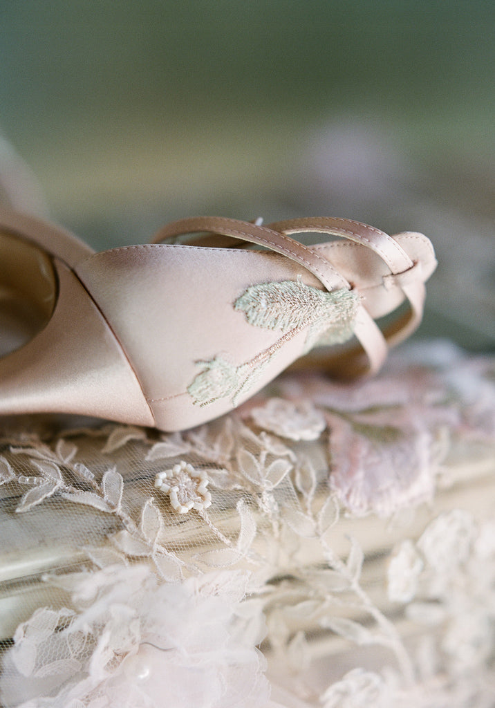 Flora Wedding Shoe Detail for Claire Pettibone for Bella Belle