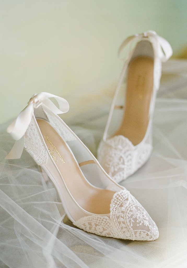 Giselle Embroidered Bridal Shoes Ivory Lace Wedding Shoes