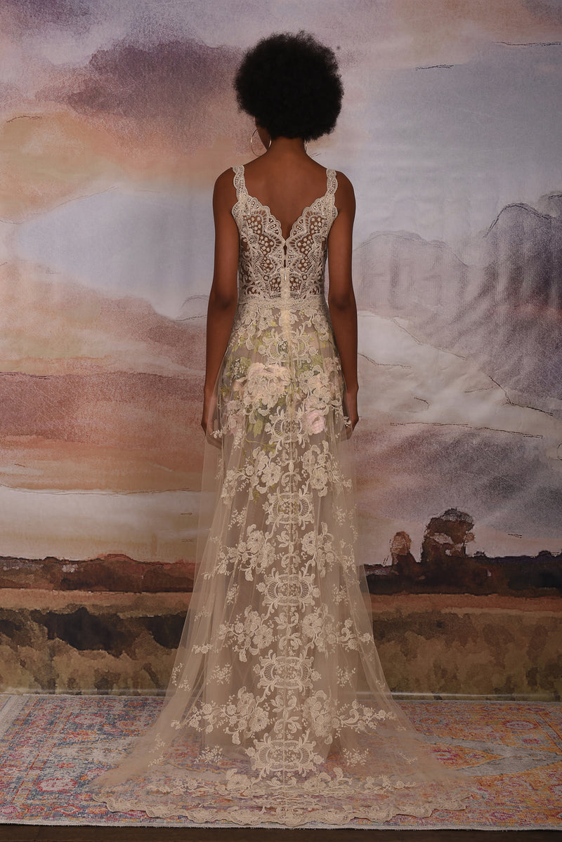 Claire Pettibone Couture Gypsy Rose Lace Gown