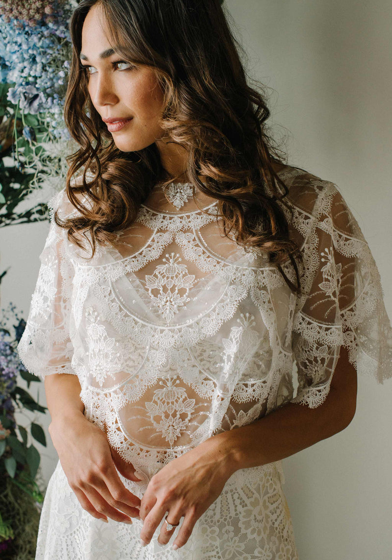 Helena Ivory Embroidered Top
