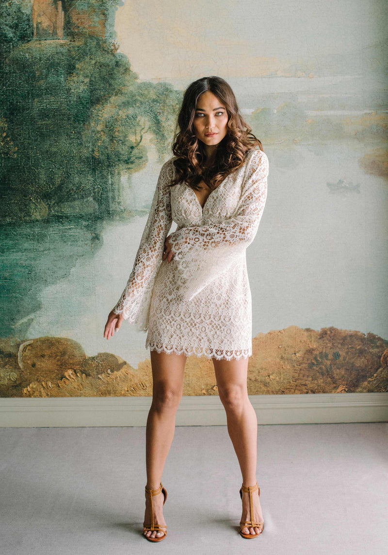 Indie Lace Mini Dress