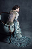 Notre Dame - Wedding Dress by Claire Pettibone campaign seated back