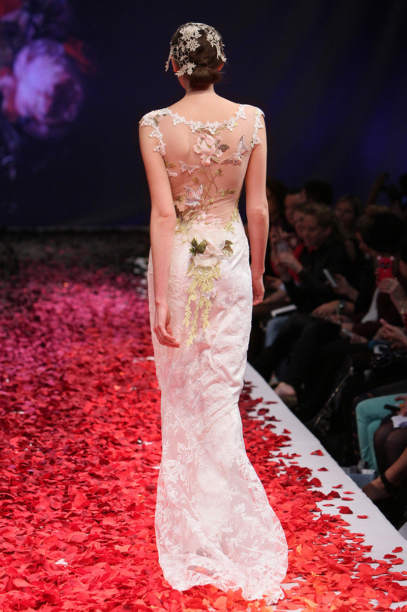 Papillon - Wedding Dress by Claire Pettibone runway back