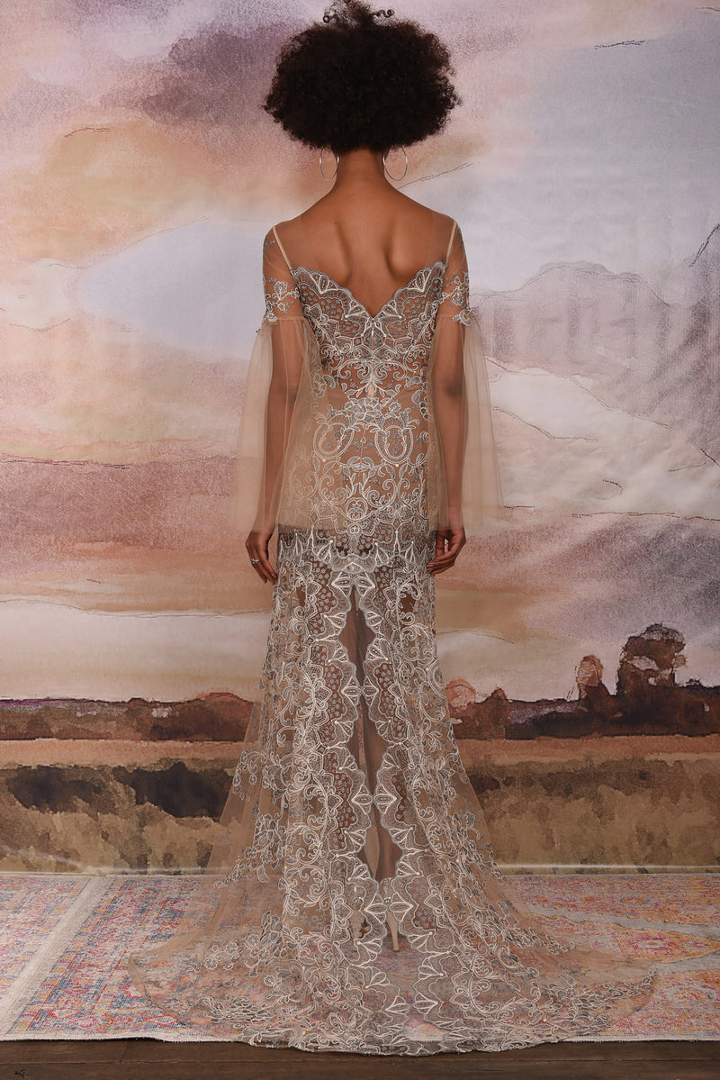Claire Pettibone Couture Sahara Lace Gown