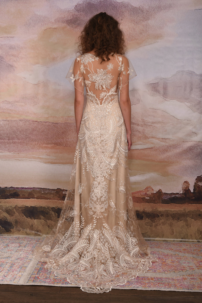 Claire Pettibone Couture Seychelles Lace Gown