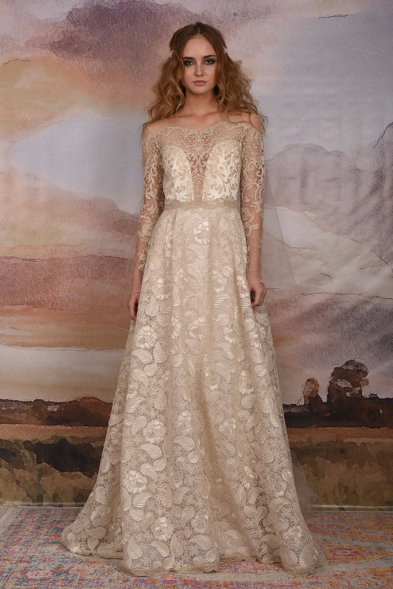 Claire Pettibone Couture Voyage Lace Gown