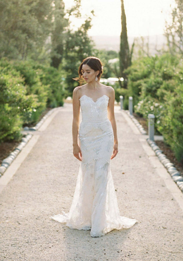 Claire Pettibone Celeste Lace Wedding Gown