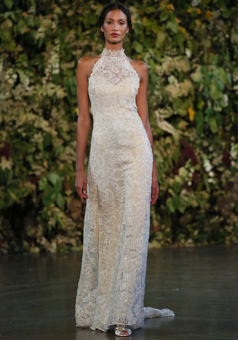 Claire Pettibone Celestine Lace Wedding Gown