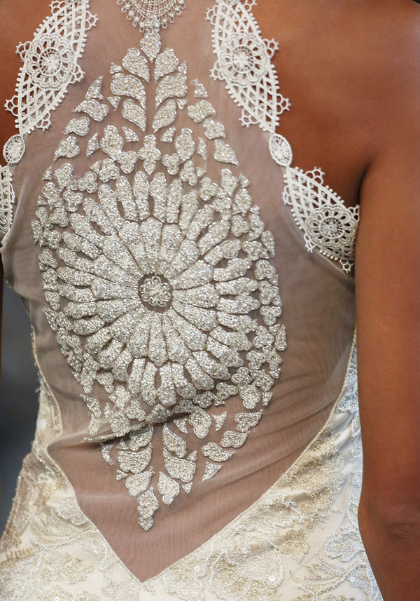 Celestine - Illusion Back Wedding Dress by Claire Pettibone runway