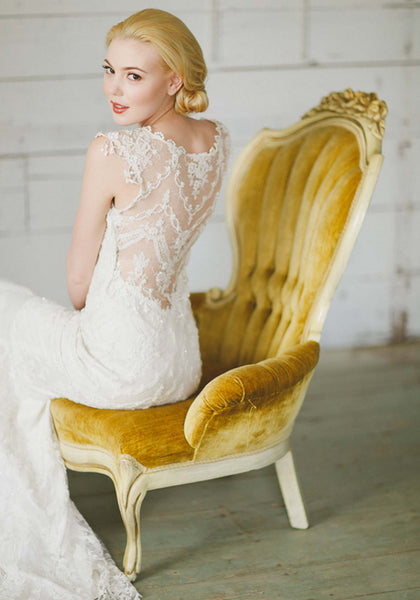 Claire Pettibone Chantilly Lace Wedding Gown