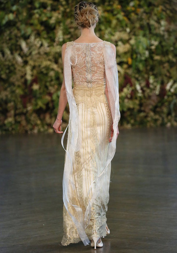 Claire Pettibone Couture Chapelle Wedding Gown