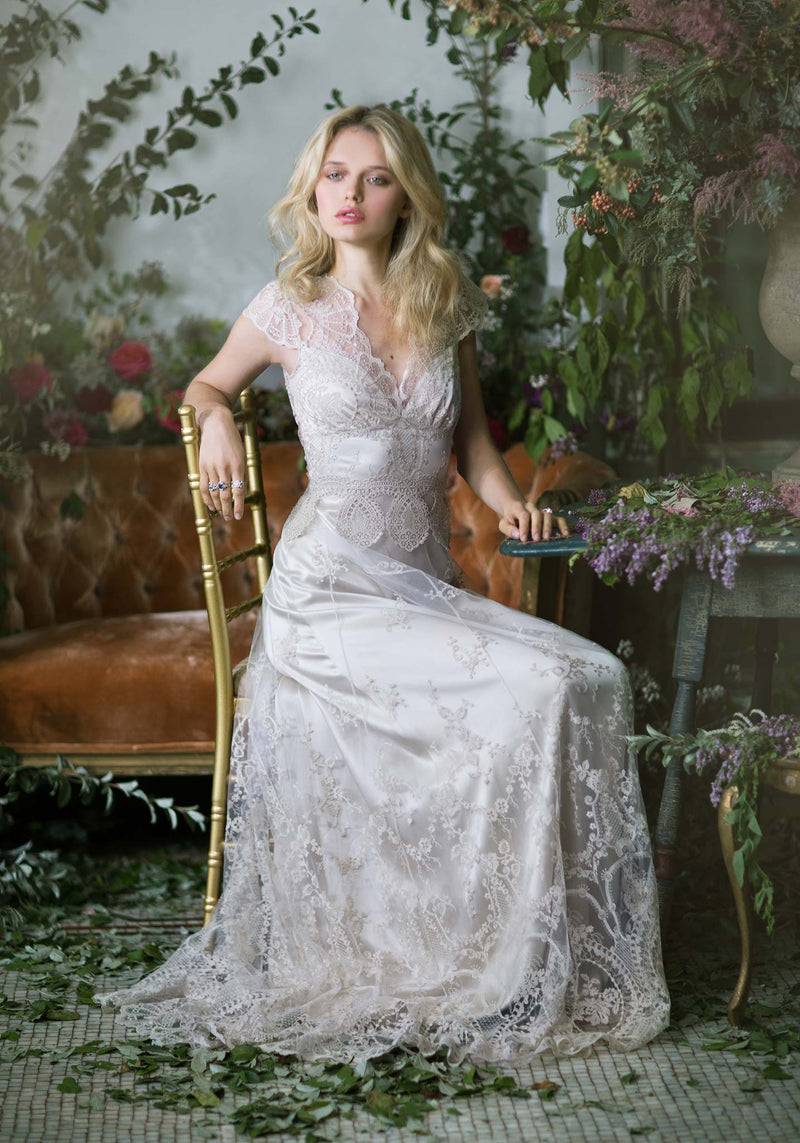 Claire Pettibone Cora Lace Wedding Gown