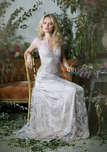 All couture dresses claire pettibone cora lace wedding gown junglespirit Images