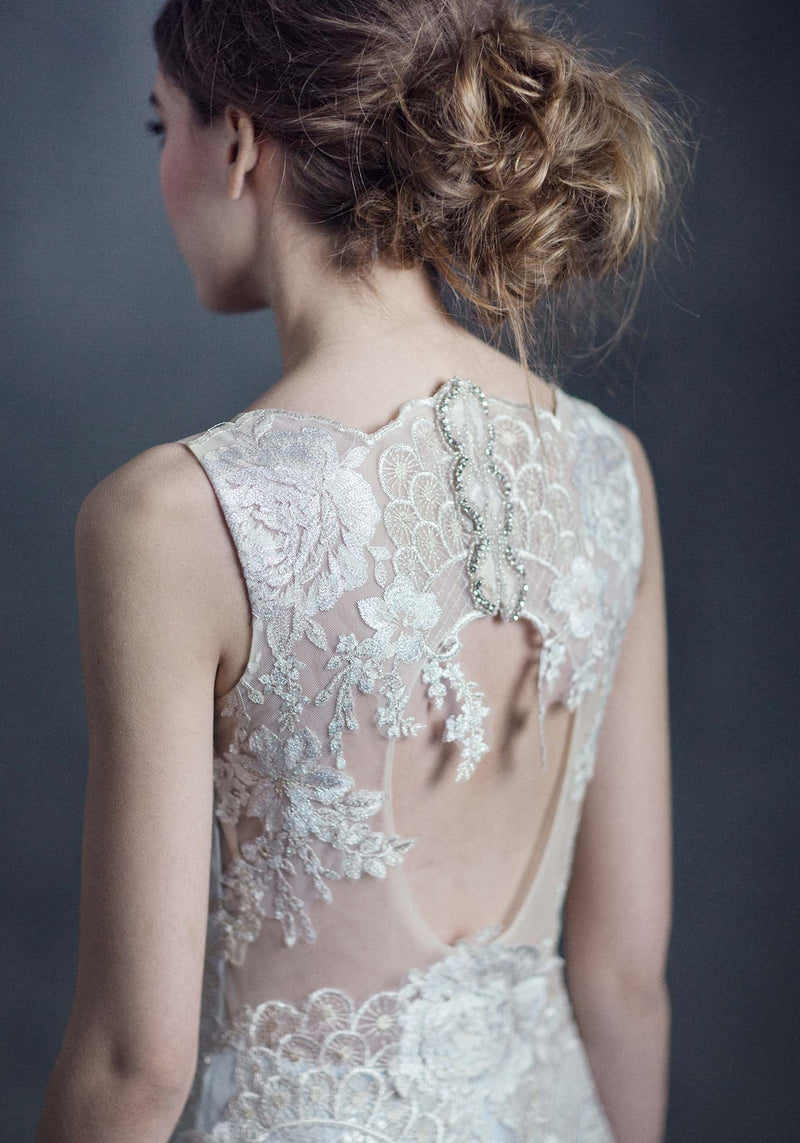 Claire Pettibone Eden Lace Wedding Gown
