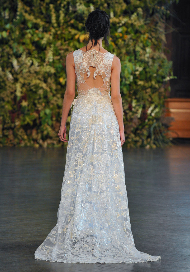 Eden - Couture Wedding Dress by Claire Pettibone runway full back