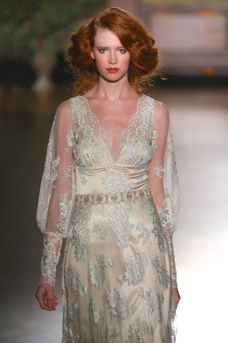 Eliza - Lace Wedding Dress by Claire Pettibone runway detail