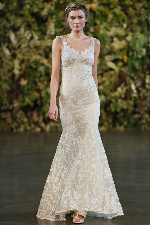 Elizabeth - Couture lace wedding dress by Claire Pettibone runway full