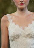 Elizabeth - Couture lace wedding dress by Claire Pettibone close up