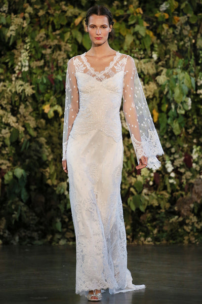 Emanuel - Couture Lace Wedding Gown by Claire Pettibone