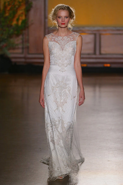 Eva - Wedding Dress by Claire Pettibone runway full