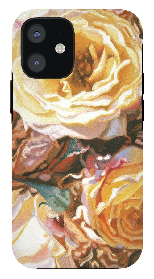 Faded Yellow Roses - Phone Case
