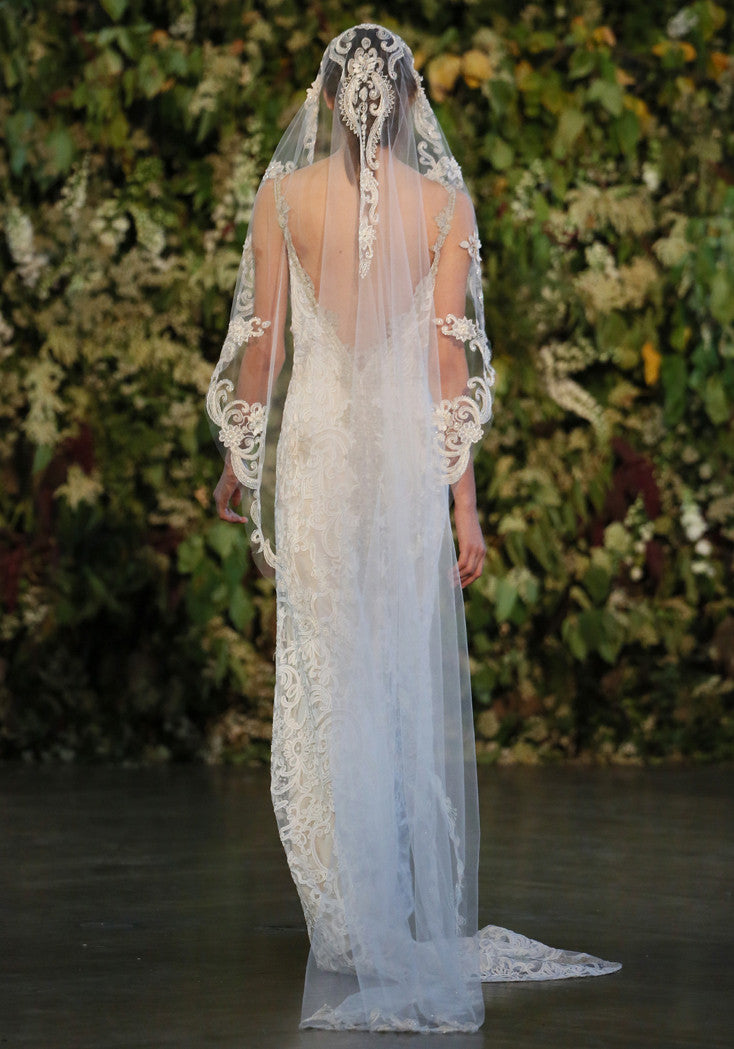 Faith - Couture Wedding Dress by Claire Pettibone runway full back