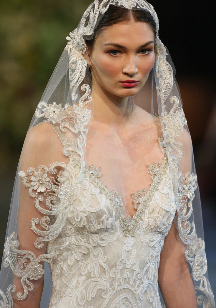 Faith - Couture Wedding Dress by Claire Pettibone runway detail front