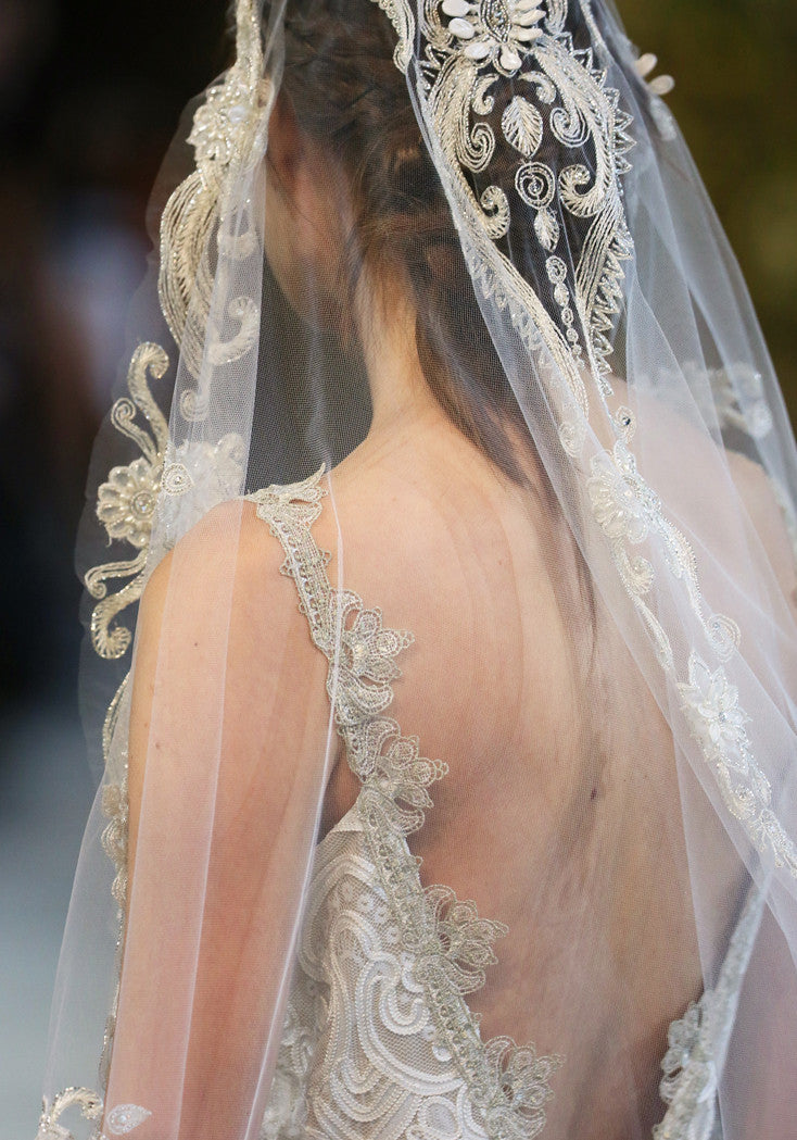 Faith - Couture Wedding Dress by Claire Pettibone runway detail back