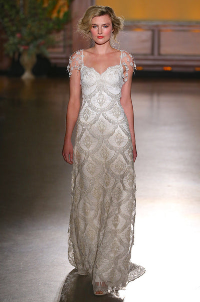 Helene - Wedding Dress by Claire Pettibone runway front full