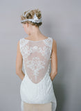 Iris - Wedding Dress by Claire Pettibone image back seated