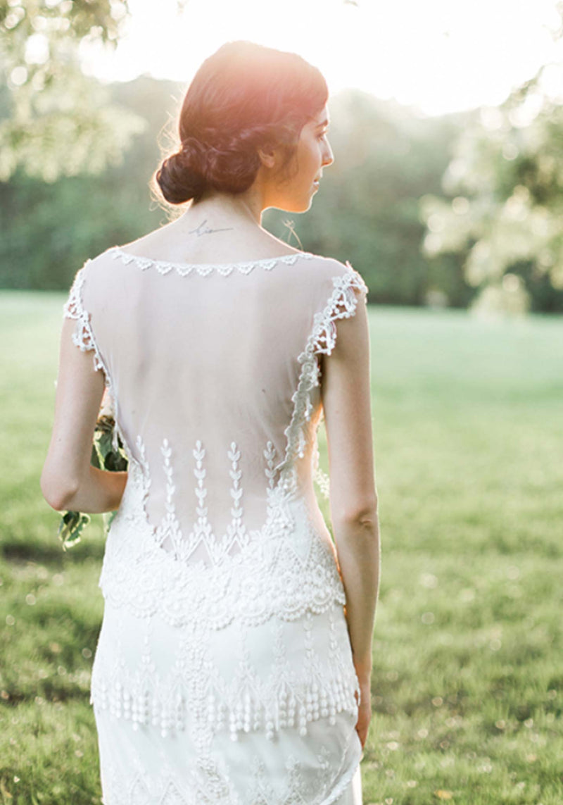 Claire Pettibone Kristene Lace Wedding Gown
