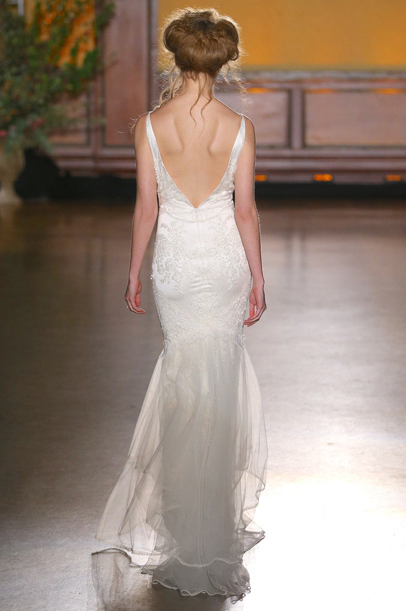 Claire Pettibone Lace Marquise Wedding Dress