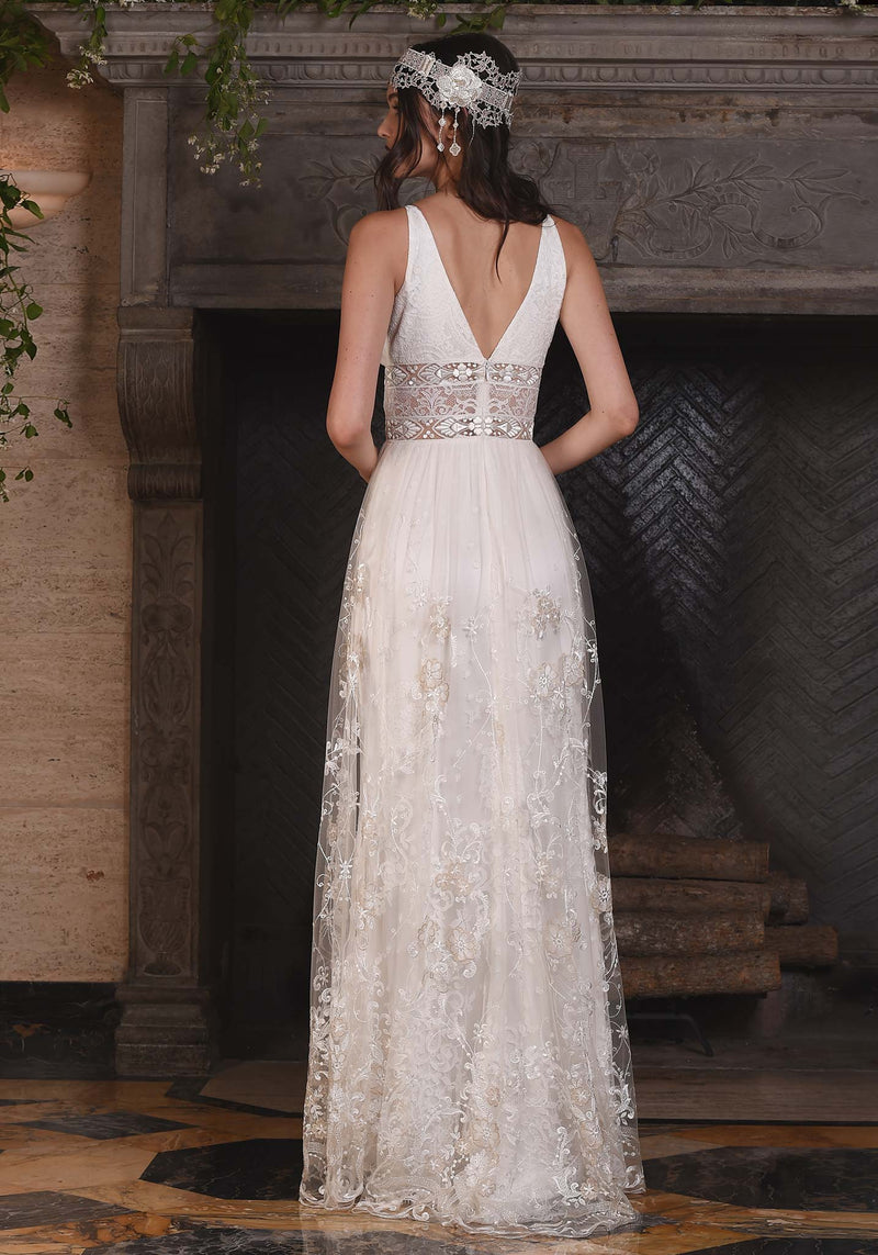 Claire Pettibone Lace Nightingale Gown