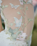 Papillon - Wedding Dress by Claire Pettibone back detail