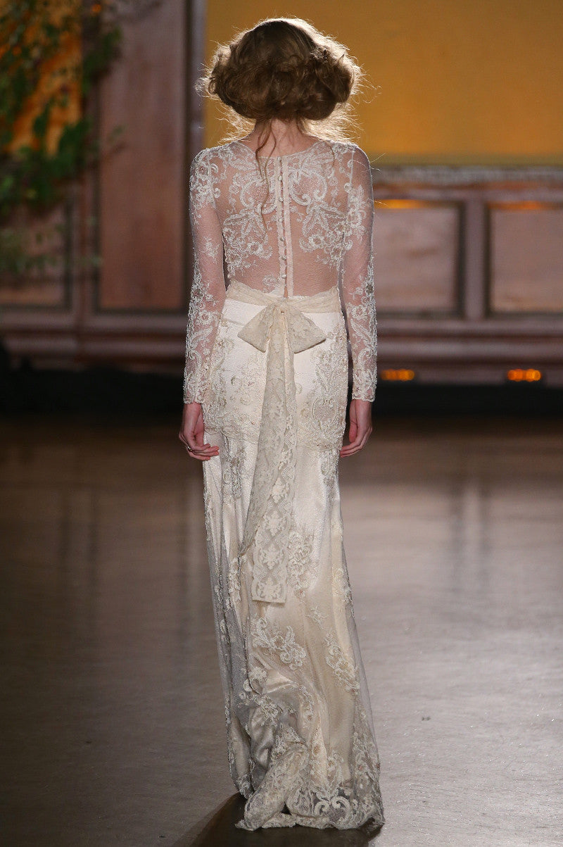 Pearle - Wedding Dress by Claire Pettibone runway back