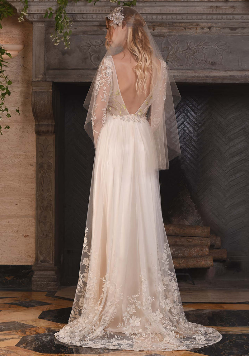 Claire Pettibone Lace Primavera Wedding Dress