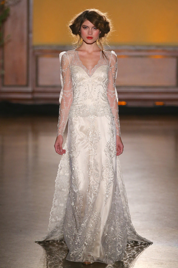 Sinclair - Wedding Dress by Claire Pettibone runway