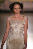 Vanderbilt - Wedding Dress by Claire Pettibone runway front detail