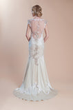 Viola - Wedding Dress by Claire Pettibone back