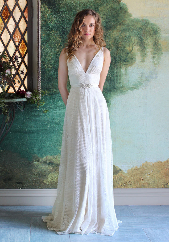 Virginia Lace Bridal Gown Romantique Claire Pettibone