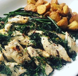 Lemon Fish with Crispy Dill