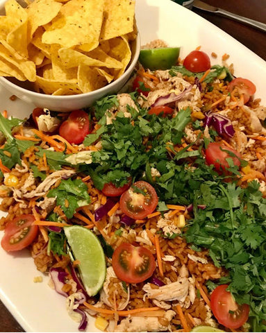 Spicy Mexican Chicken and Rice Salad