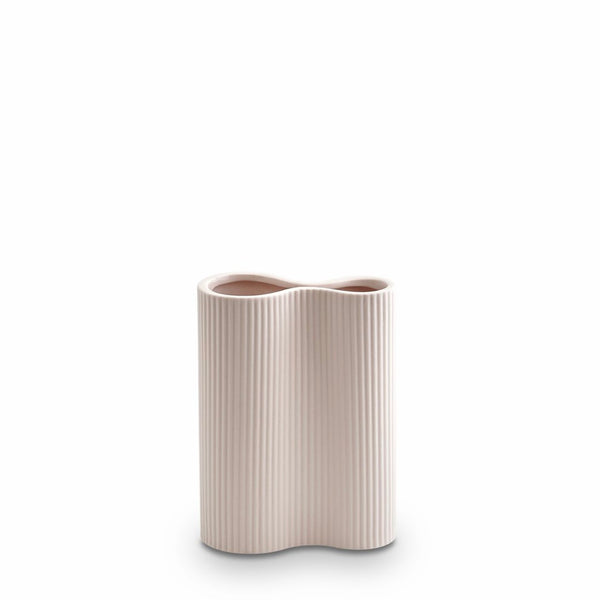 Ribbed Infinity Vase (S) Nude