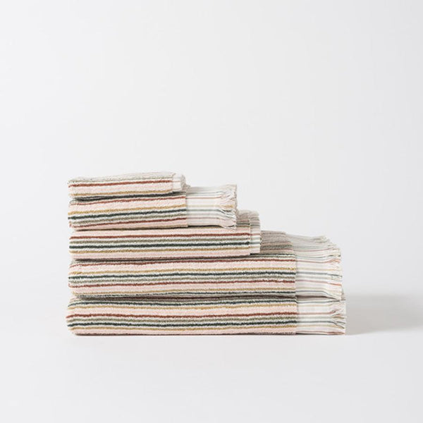 Alice Organic Cotton Bath Towels Moss/Multi