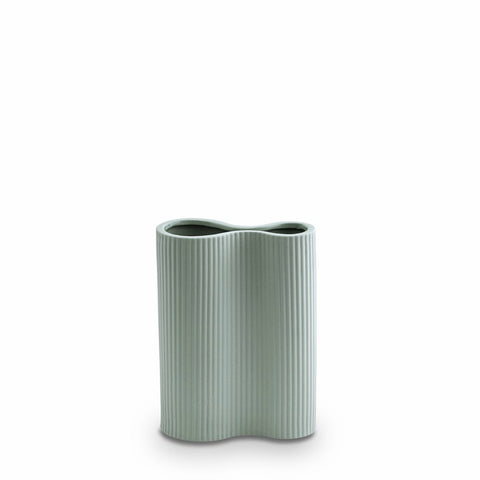 Ribbed Infinity Vase (S) Blue