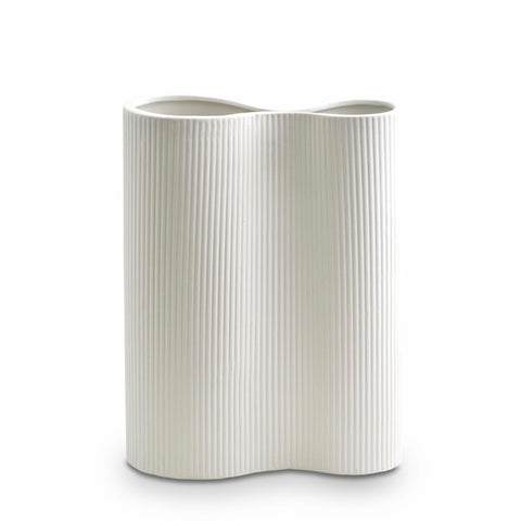 Ribbed Infinity Vase (M) Snow