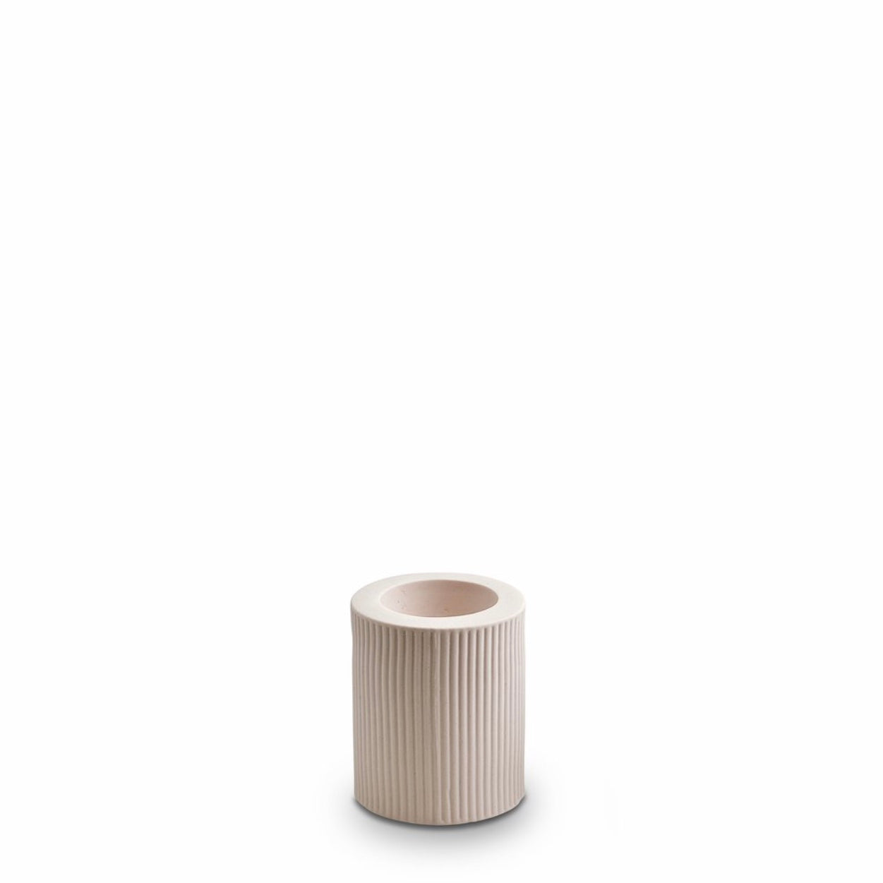Ribbed Infinity Candle Holder (M) Nude
