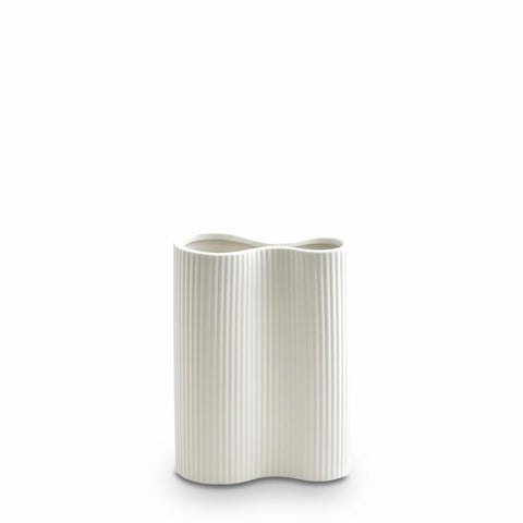 Ribbed Infinity Vase (S) Snow